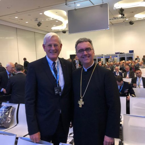 AMI President Vice-admiral Matthieu Borsboom and the Protestant Military Bishop of Germany Sigurd Rink