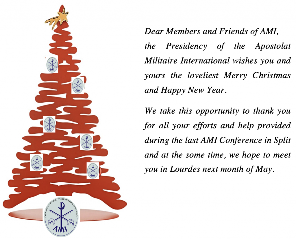 Christmas card for members and friends of AMI