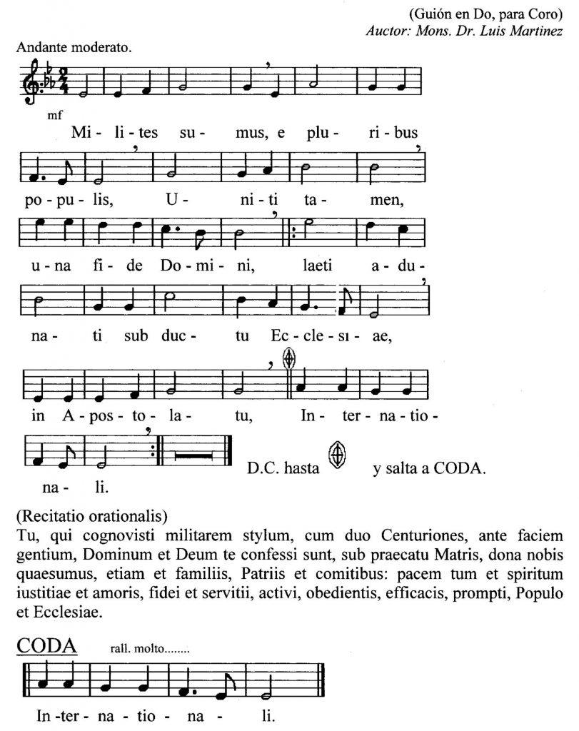 AMI Hymn sung during Mass service